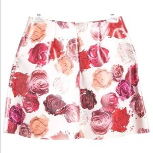 NWT MSGM $360 pink red roses skirt US6 or UK10